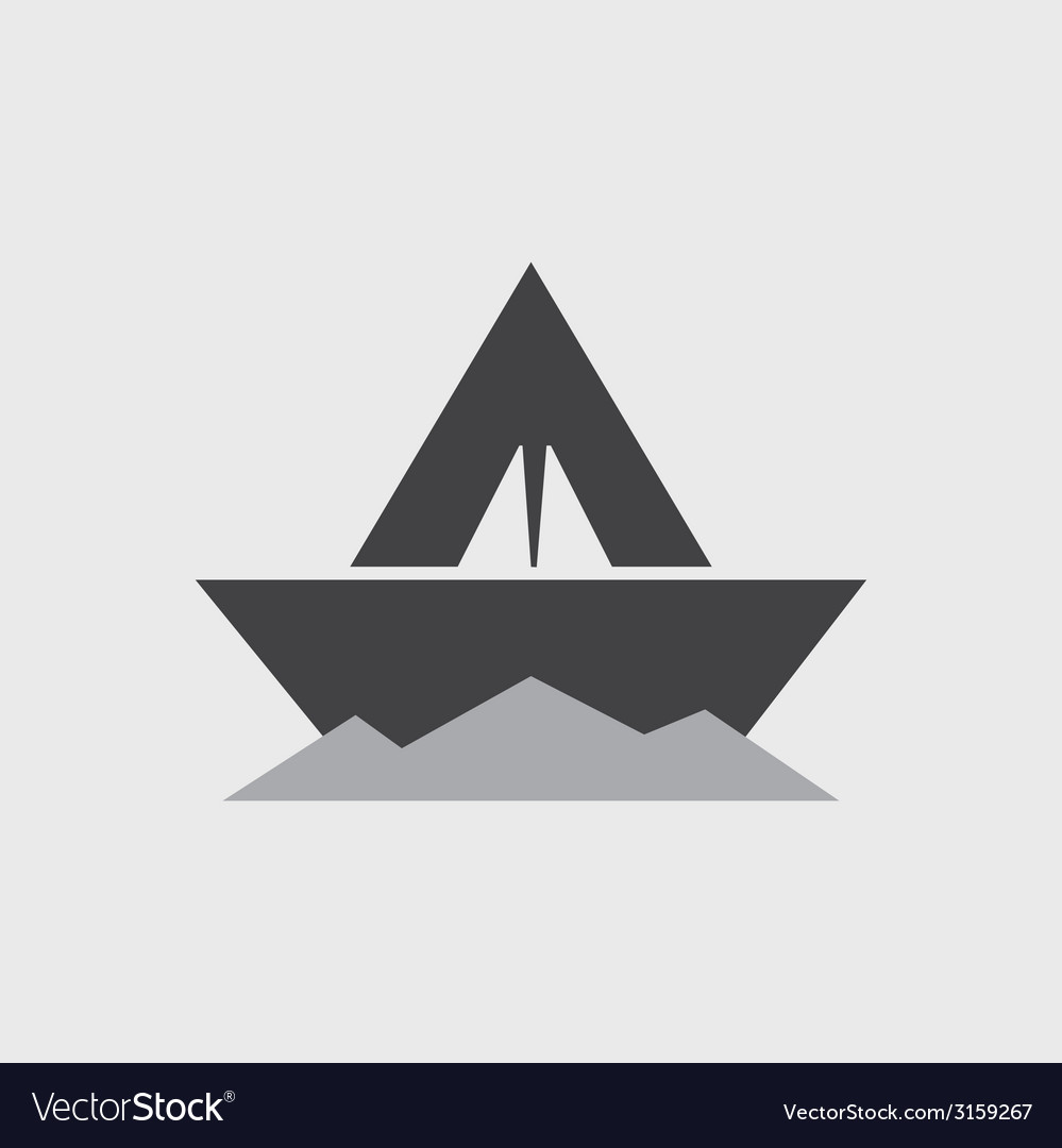 Paper boat - icon vector | Price: 1 Credit (USD $1)