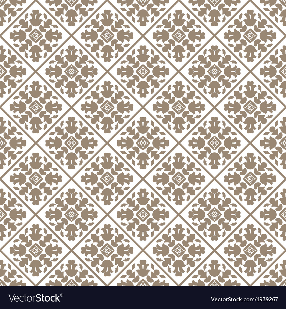 Seamless charcoal small floral elements wallpaper vector | Price: 1 Credit (USD $1)