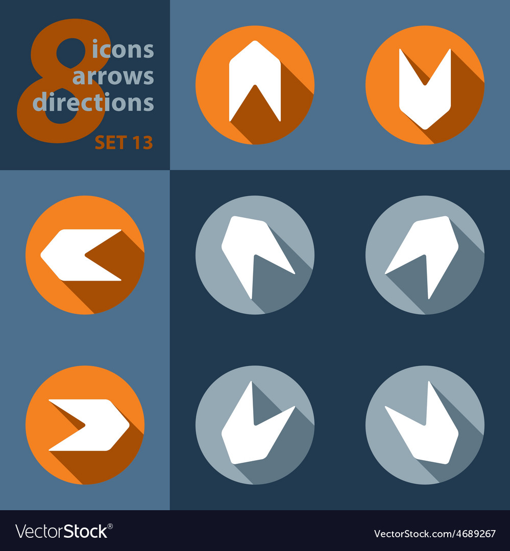 Set of eight icons - with arrows vector | Price: 1 Credit (USD $1)