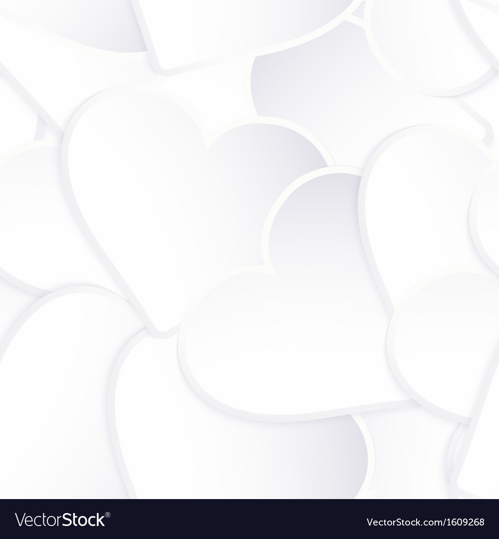 Background made of white heart stickers eps 10 vector | Price: 1 Credit (USD $1)