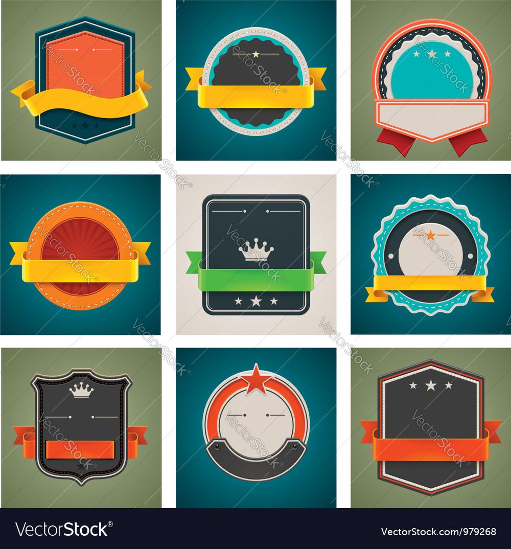Badges set vector | Price: 1 Credit (USD $1)