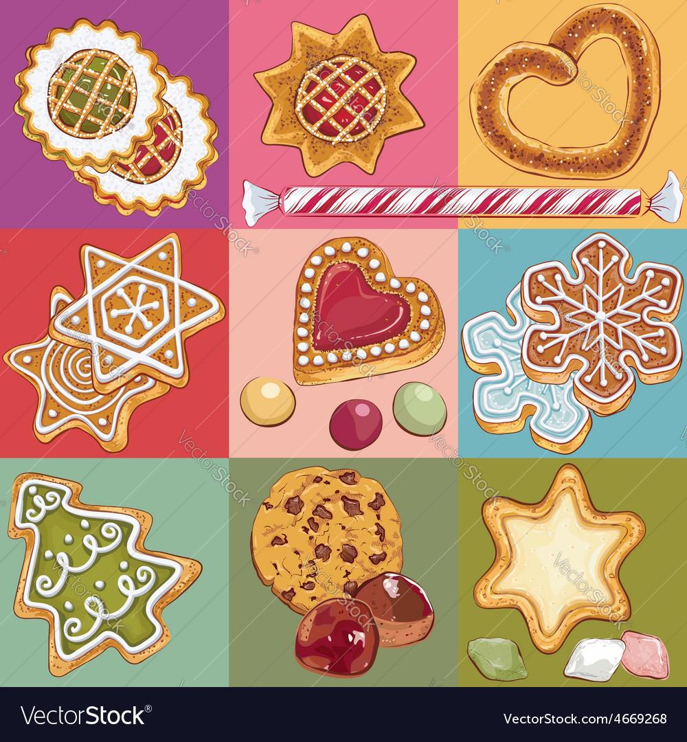 Christmas cookies vector   Price: 1 Credit (USD $1)