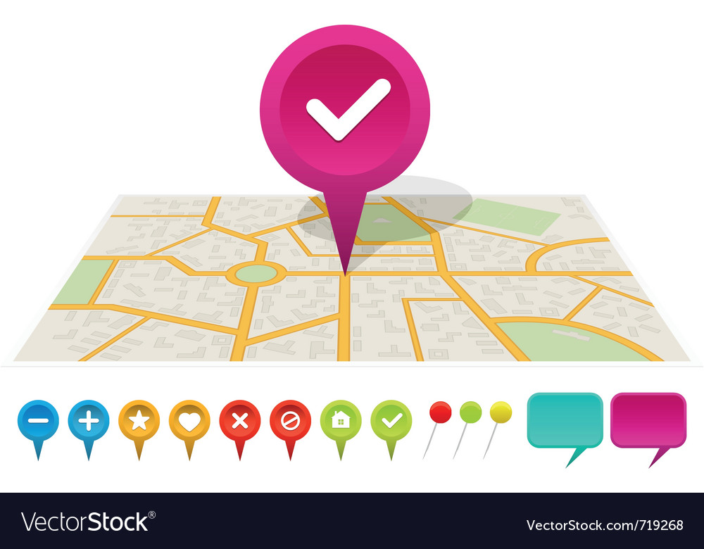 City map with labels vector | Price: 1 Credit (USD $1)
