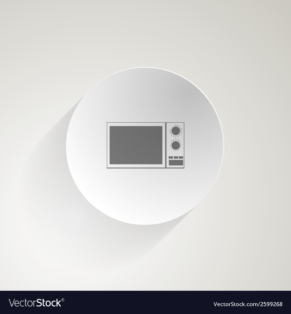Flat icon for microwave vector | Price: 1 Credit (USD $1)