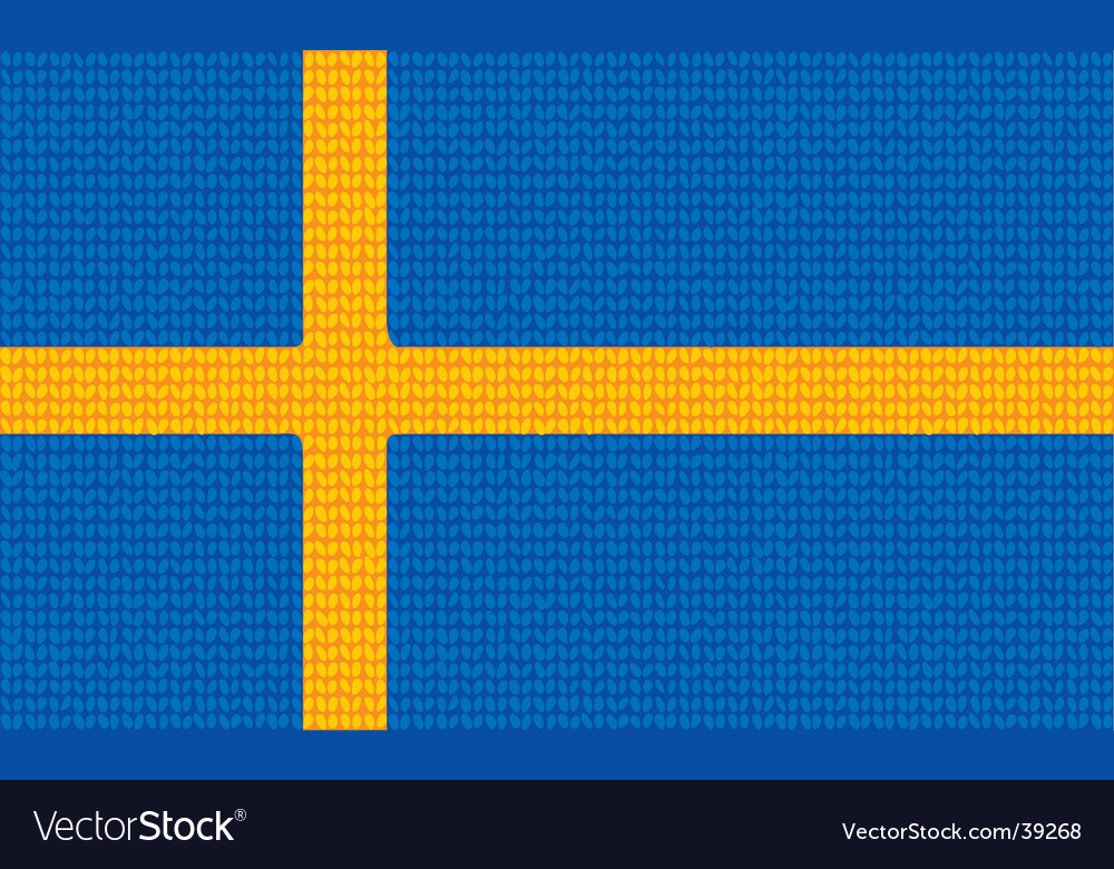 Knitted swedish flag vector | Price: 1 Credit (USD $1)