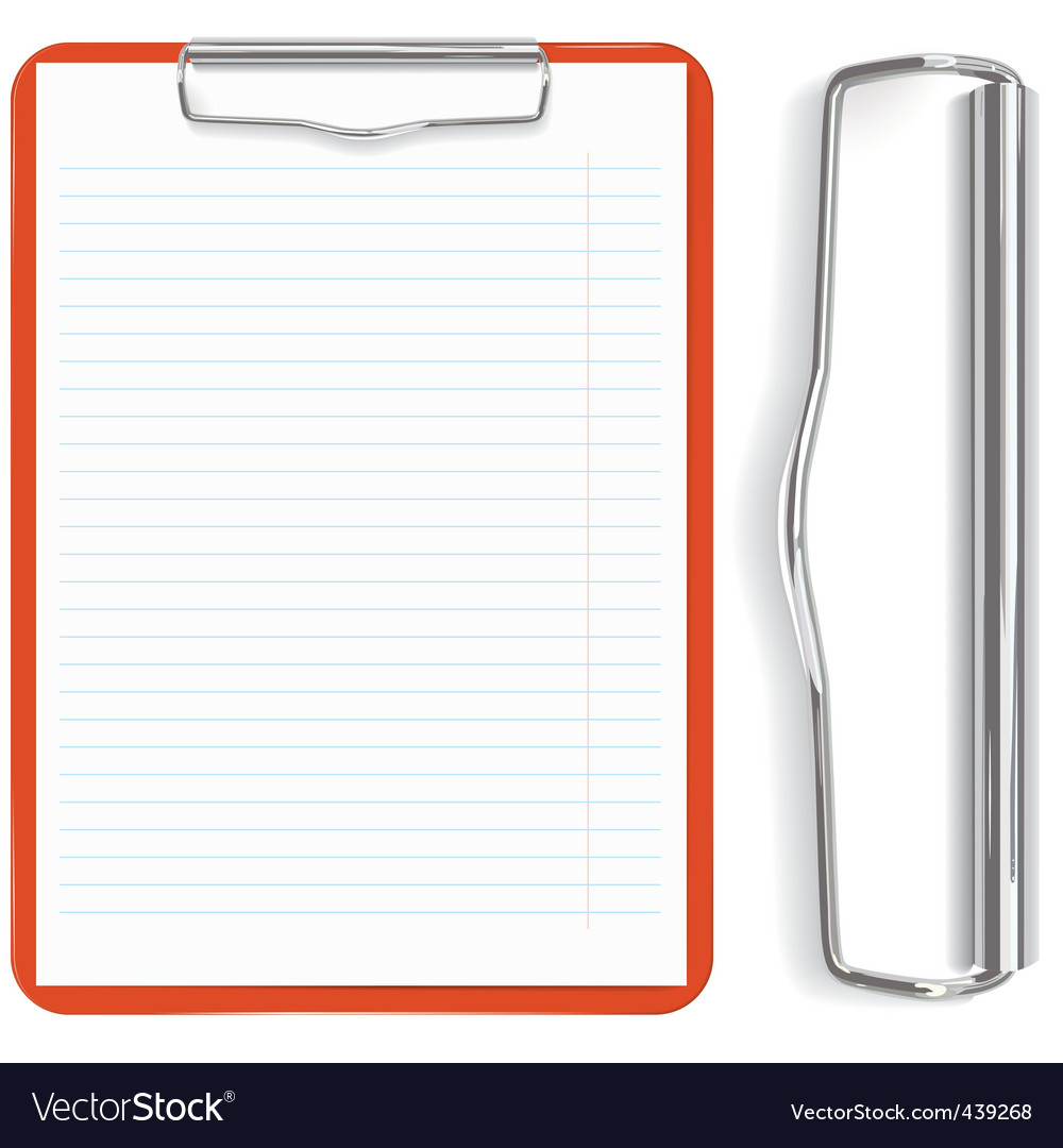 Red clipboard vector | Price: 1 Credit (USD $1)