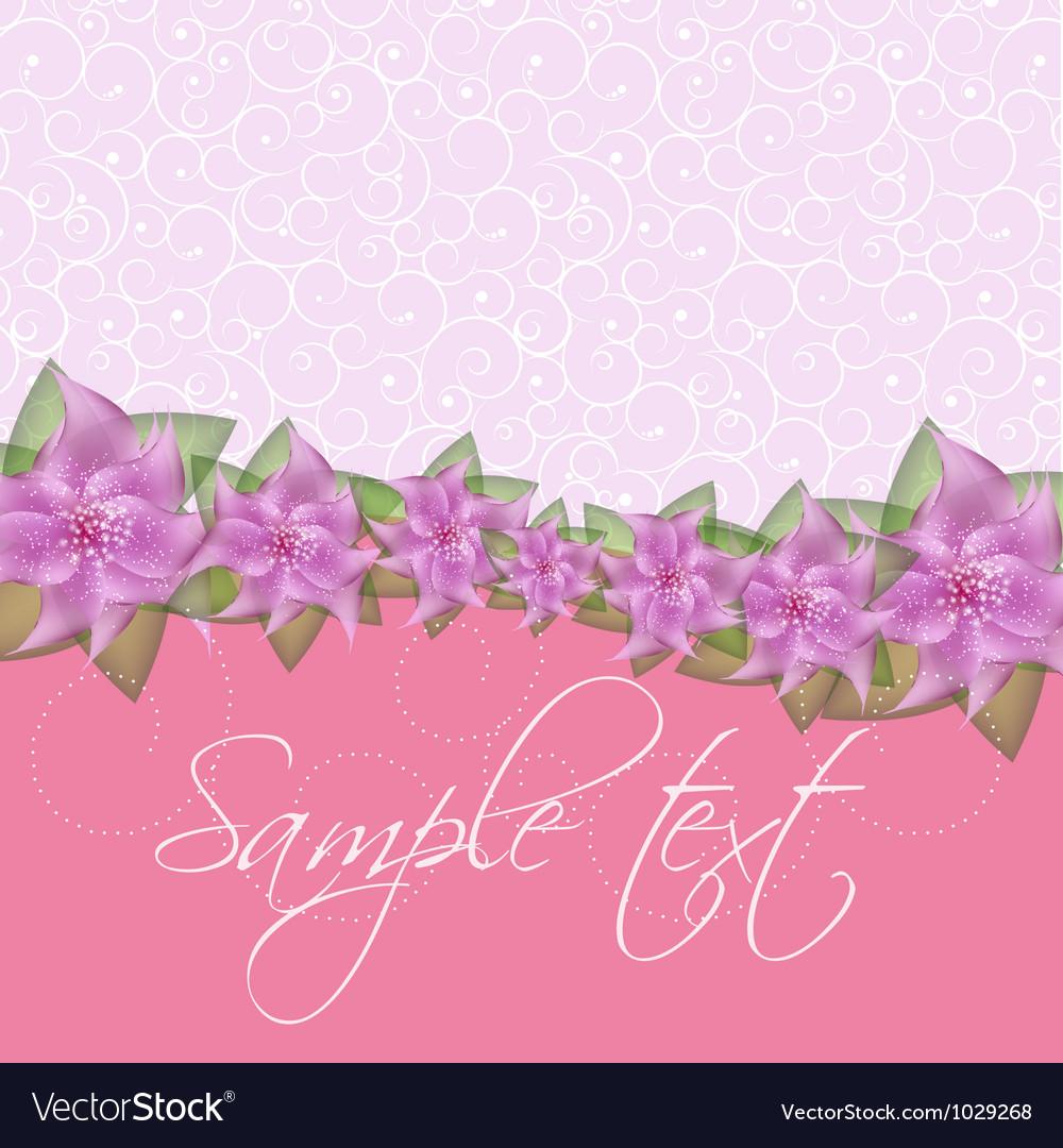 Romantic flower background vector | Price: 1 Credit (USD $1)