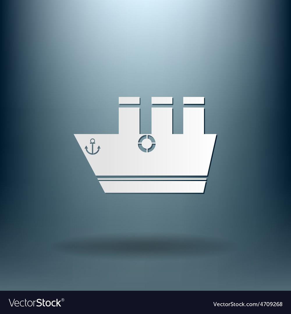Sailing ship symbol icon boat steamer sailboat vector   Price: 1 Credit (USD $1)