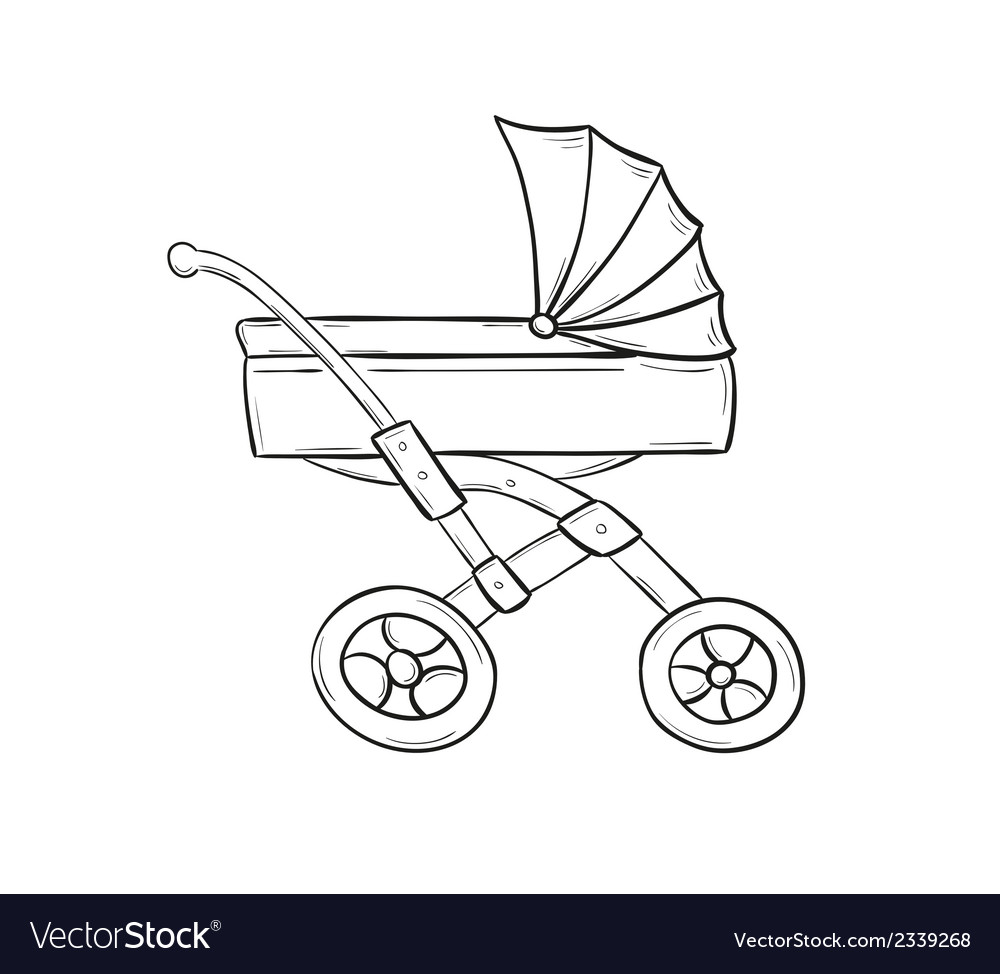 Stroller vector | Price: 1 Credit (USD $1)