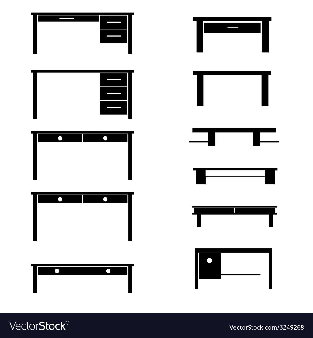 Table black vector | Price: 1 Credit (USD $1)
