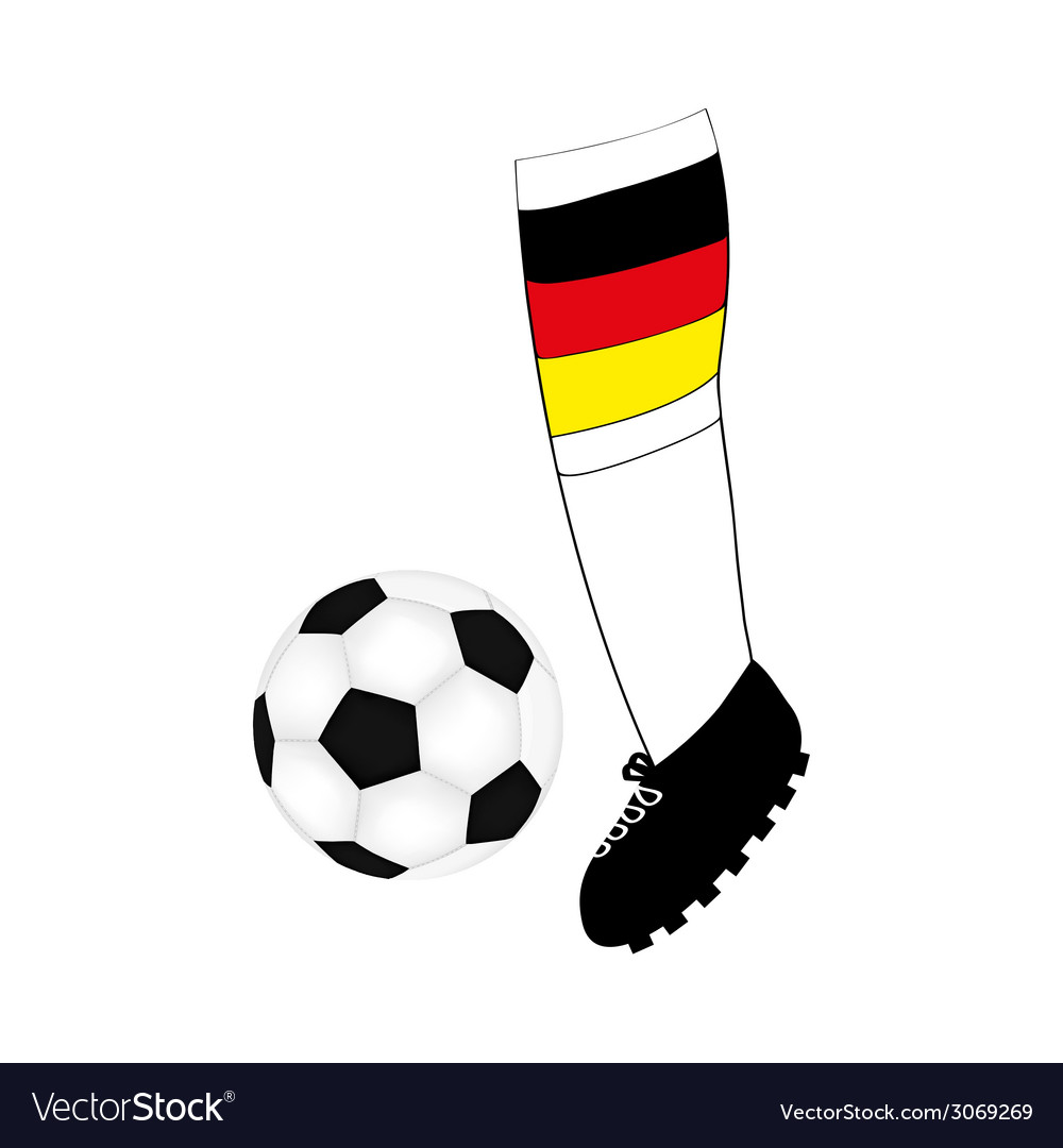 Foot football player vector | Price: 1 Credit (USD $1)