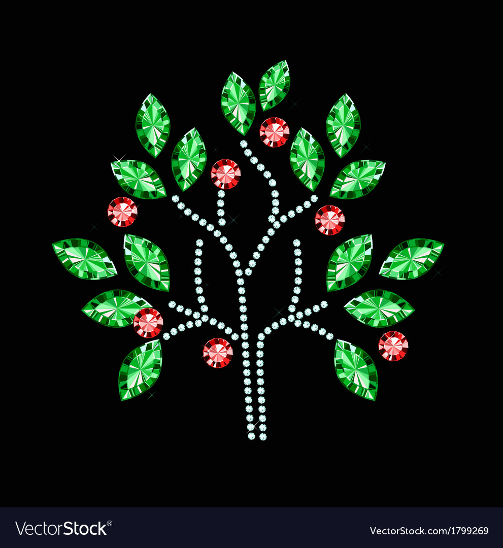 Fruit gem tree vector | Price: 1 Credit (USD $1)