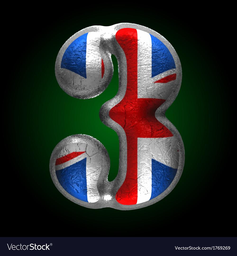 Great britain metal figure 3 vector | Price: 1 Credit (USD $1)