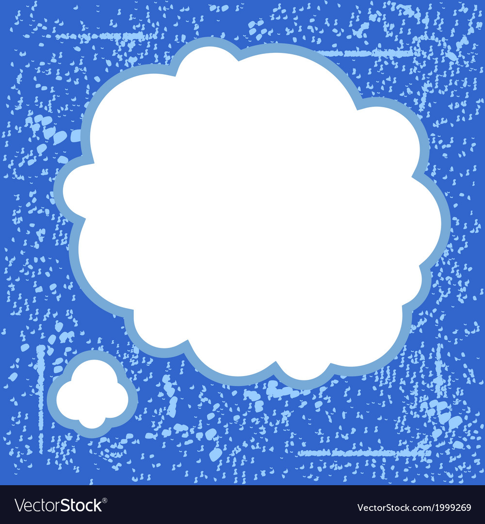 Grunge blue bubble vector | Price: 1 Credit (USD $1)
