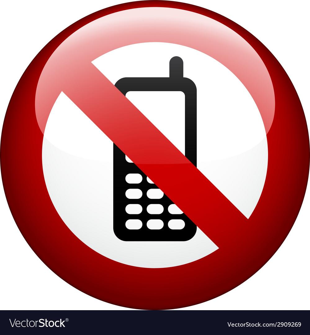 No phone mark vector | Price: 1 Credit (USD $1)