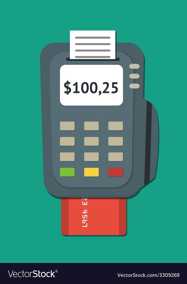 Pos terminal vector | Price: 1 Credit (USD $1)