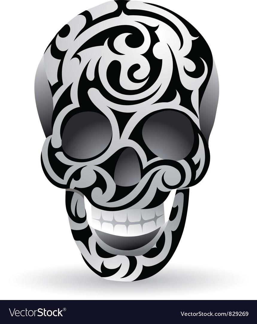 Swirl skull vector | Price: 1 Credit (USD $1)