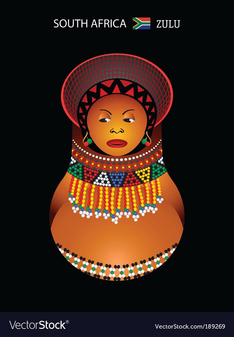 Zulu girl vector | Price: 1 Credit (USD $1)