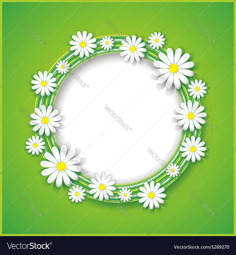 Abstract spring or summer background with flower vector | Price: 1 Credit (USD $1)