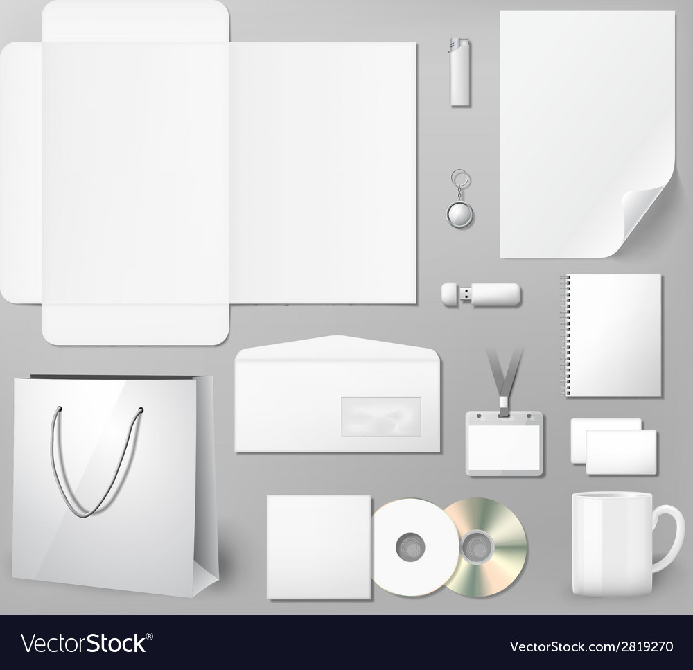 Blank corporate identity template vector | Price: 1 Credit (USD $1)