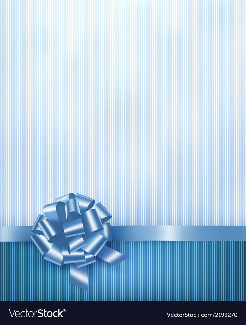Blue holiday background with gift glossy bow and vector | Price: 1 Credit (USD $1)
