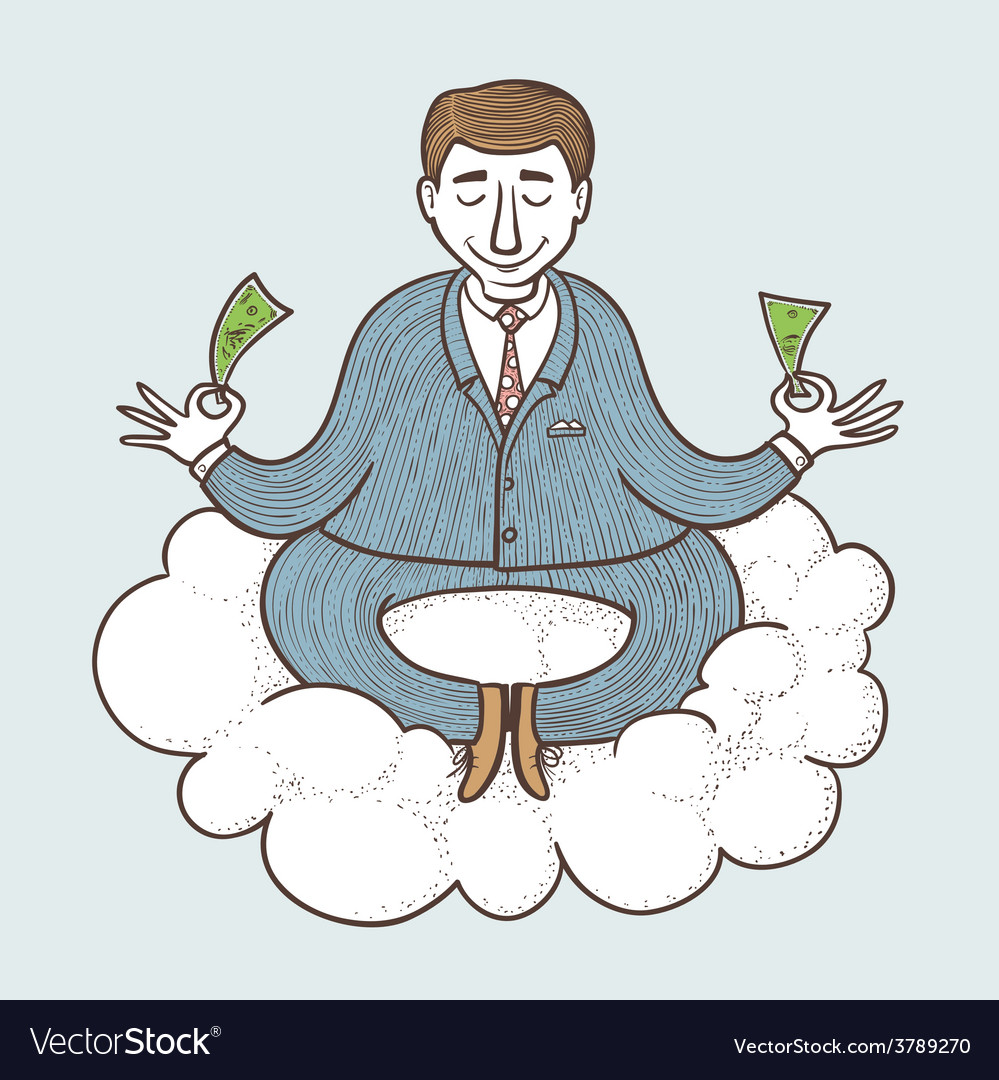 Businessman meditating vector | Price: 1 Credit (USD $1)