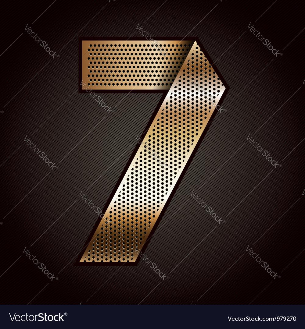 Number metal gold ribbon - 7 - seven vector   Price: 1 Credit (USD $1)