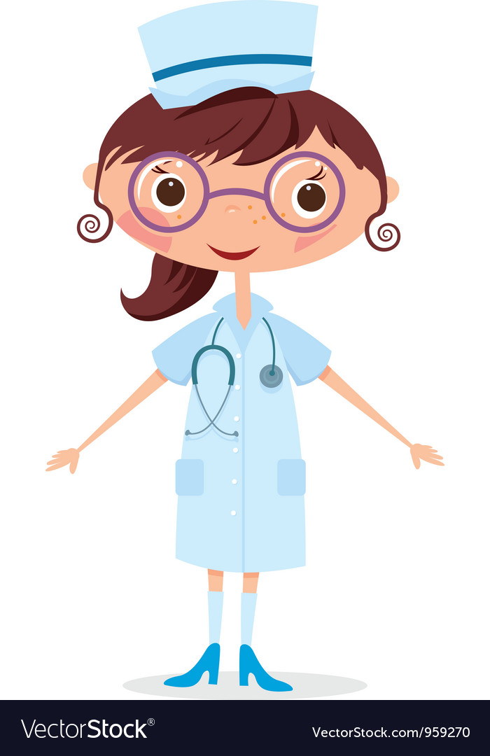 Nurse with stethoscope vector | Price: 1 Credit (USD $1)