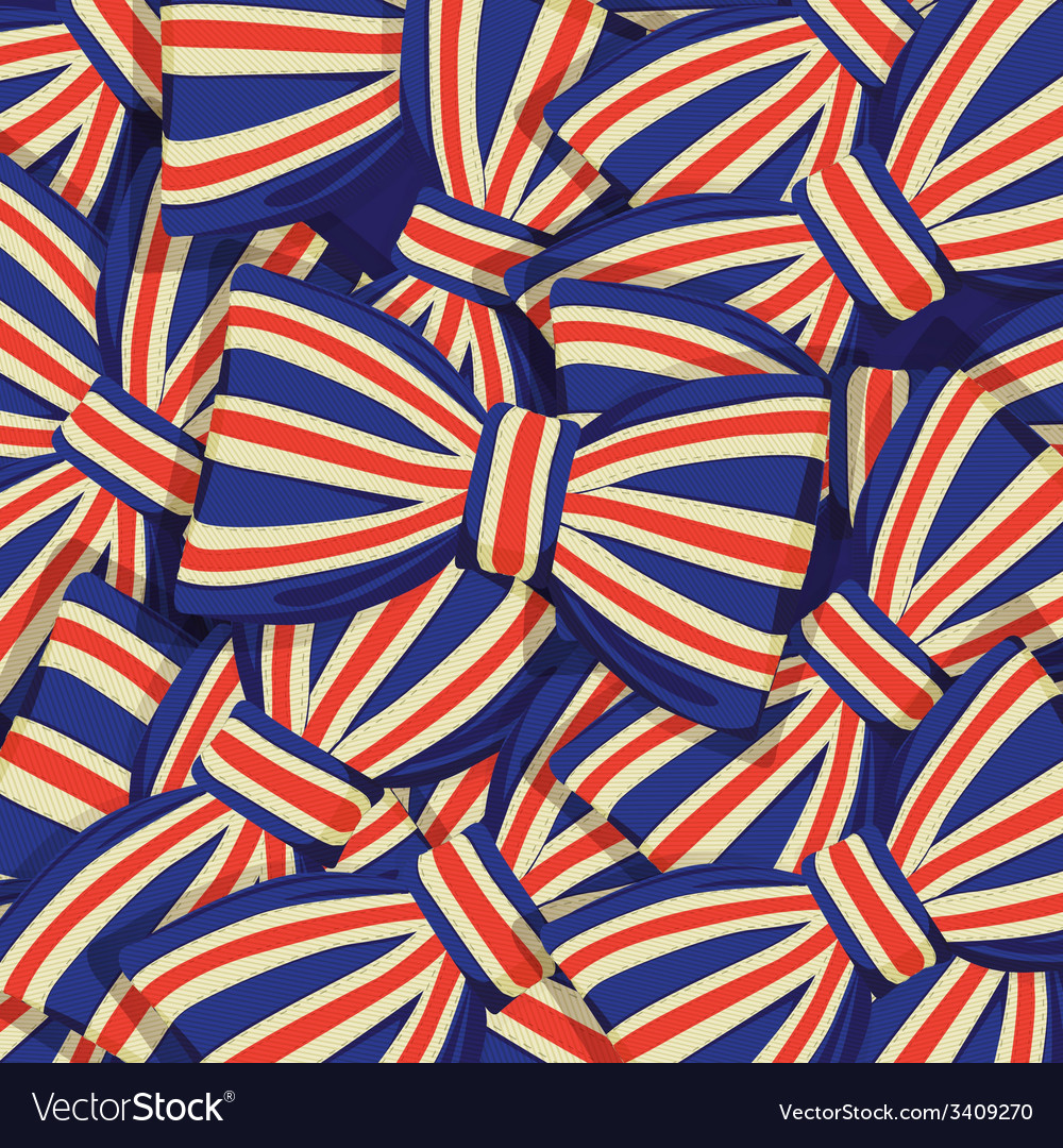 Pattern of britain flag bow-tie vector | Price: 1 Credit (USD $1)