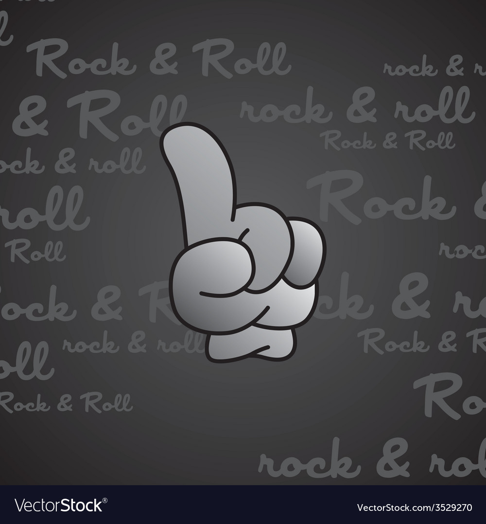 Rock and roll theme hand gesture vector | Price: 1 Credit (USD $1)