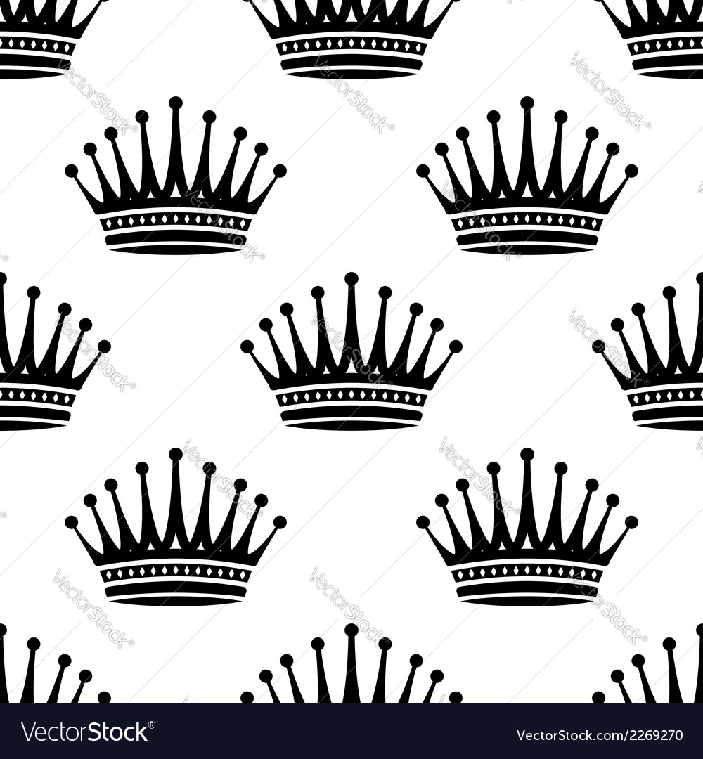 Royal crown seamless background pattern vector | Price: 1 Credit (USD $1)
