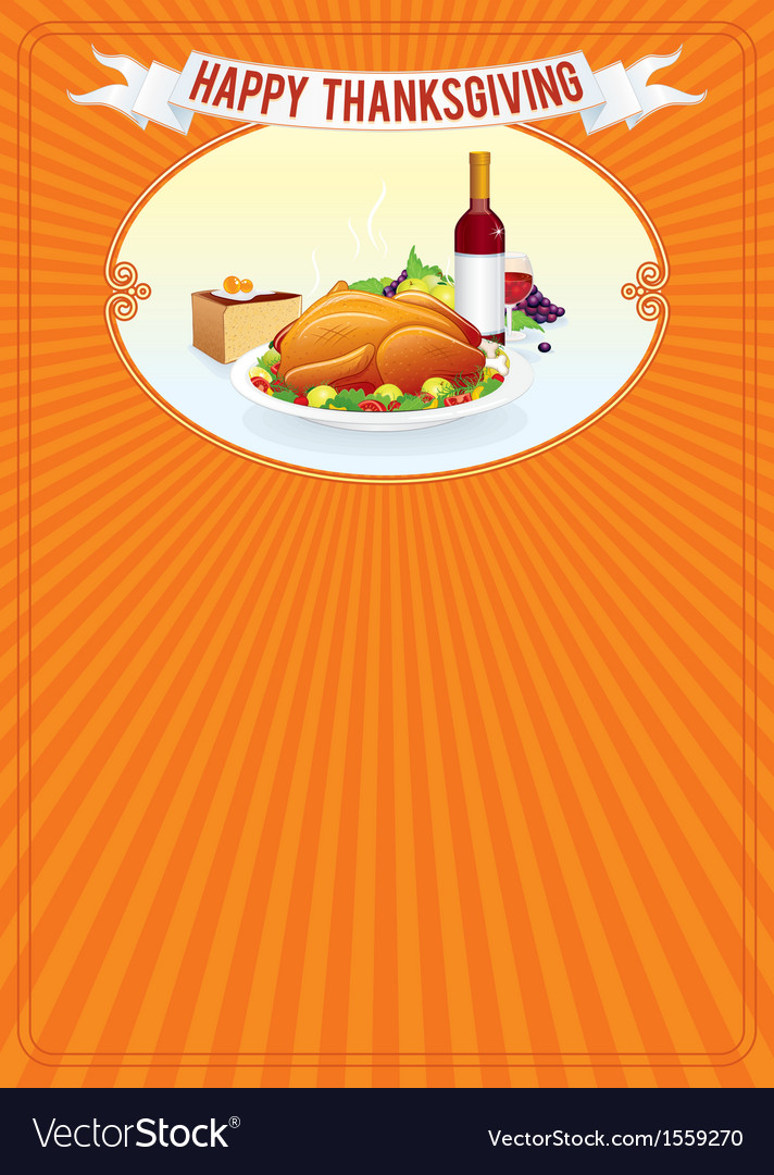 Thanksgiving day vertical background template vector | Price: 1 Credit (USD $1)