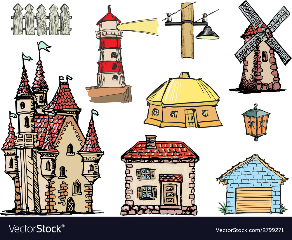 Architectural objects vector | Price: 1 Credit (USD $1)