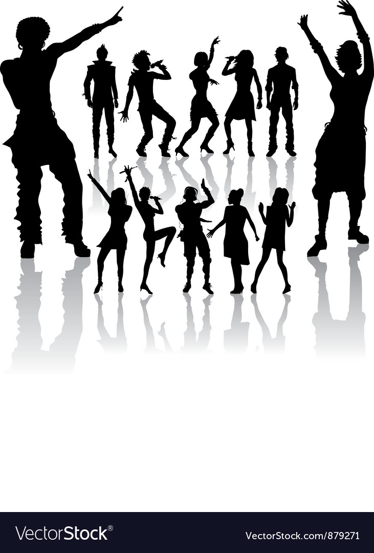 Dancing and singing people vector | Price: 1 Credit (USD $1)