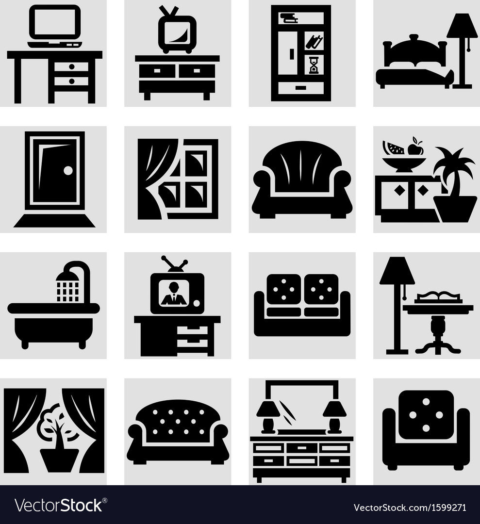 Furniture icons vector   Price: 1 Credit (USD $1)