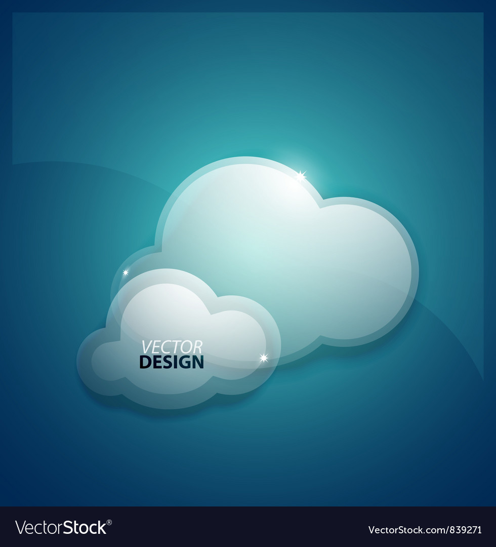 Techno clouds background vector
