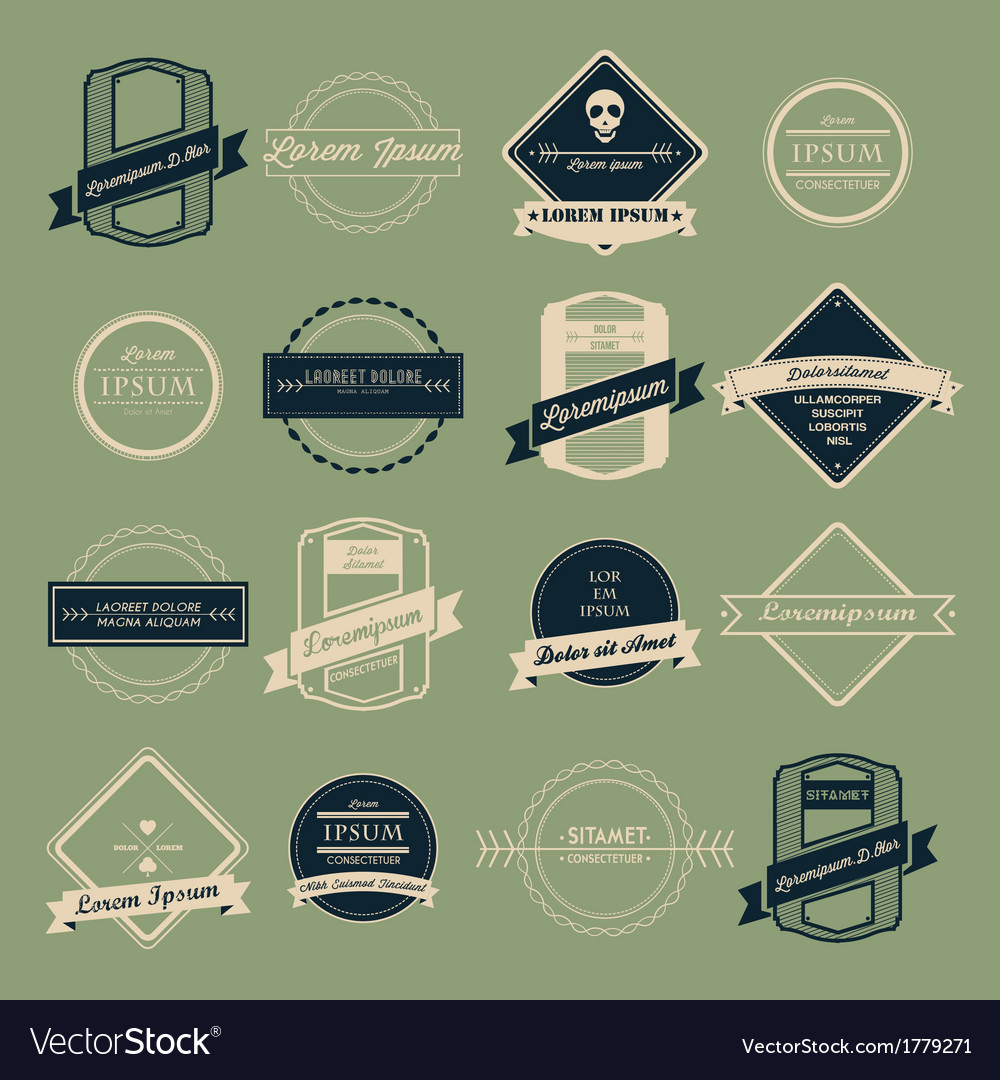Vintage logo set vector | Price: 1 Credit (USD $1)