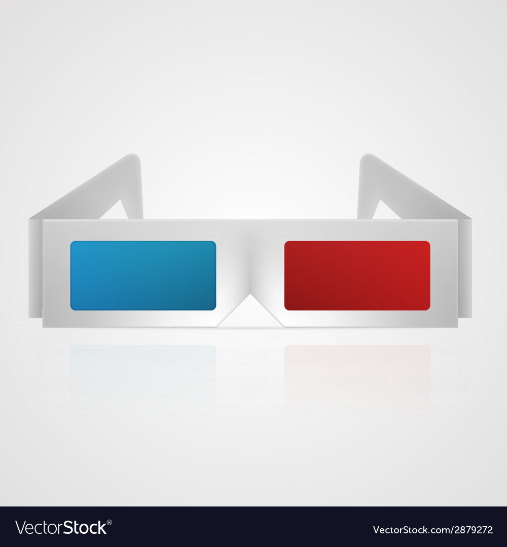 3d cinema glasses vector | Price: 1 Credit (USD $1)