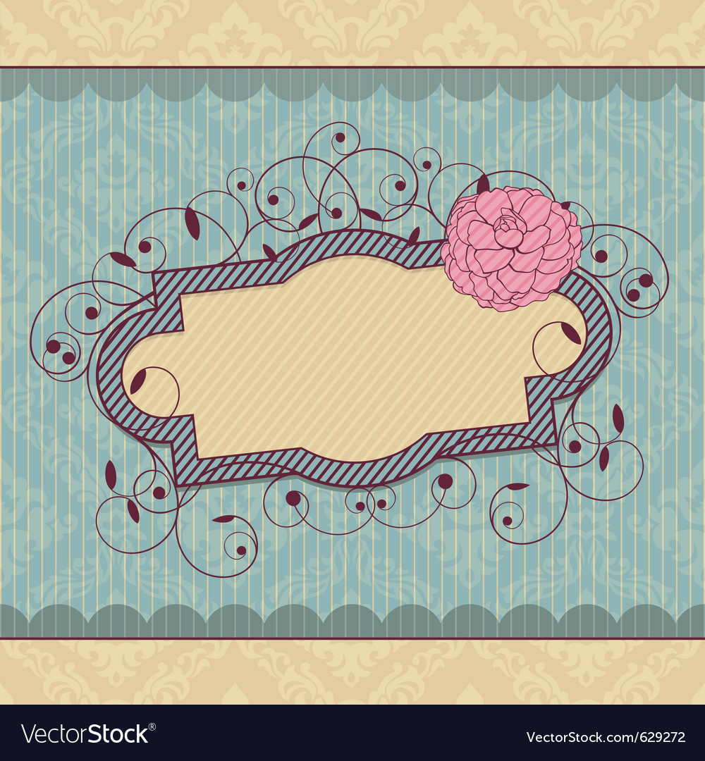 Abstract royal ornate vintage frame vector | Price: 1 Credit (USD $1)