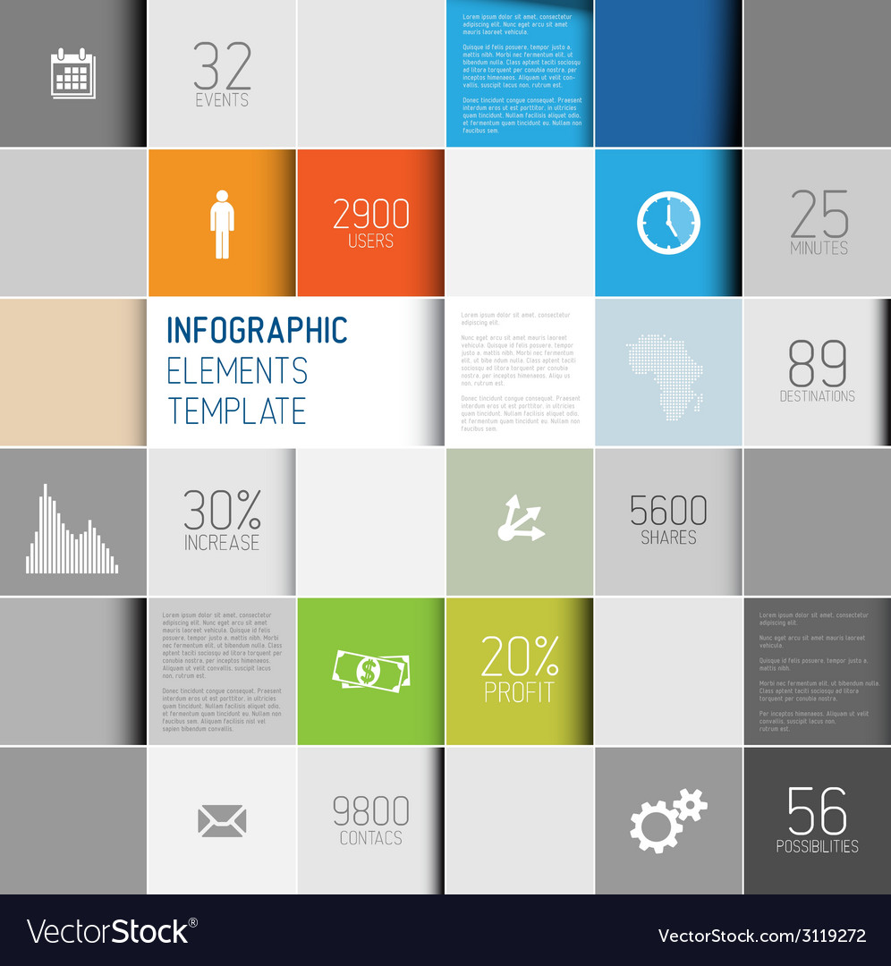 Abstract squares background infographic te vector | Price: 1 Credit (USD $1)
