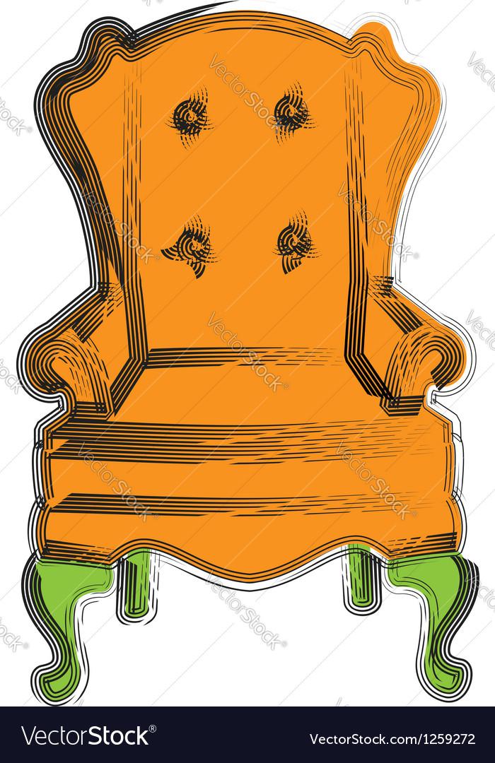 Armchair vector | Price: 1 Credit (USD $1)