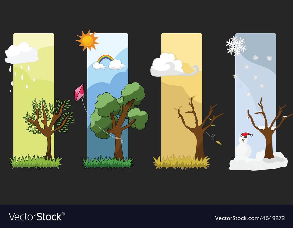 Four seasons vector | Price: 1 Credit (USD $1)