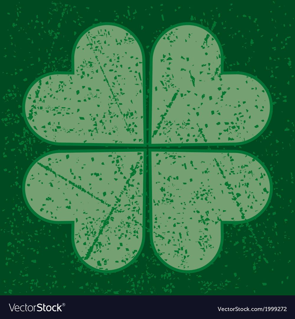 Grunge four leaf clover vector | Price: 1 Credit (USD $1)