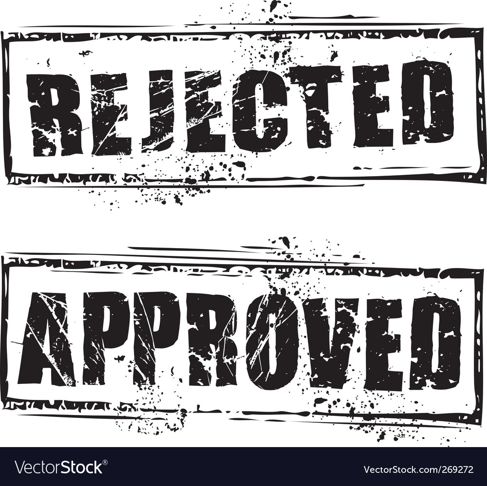 Rejected and approved stamps vector | Price: 1 Credit (USD $1)
