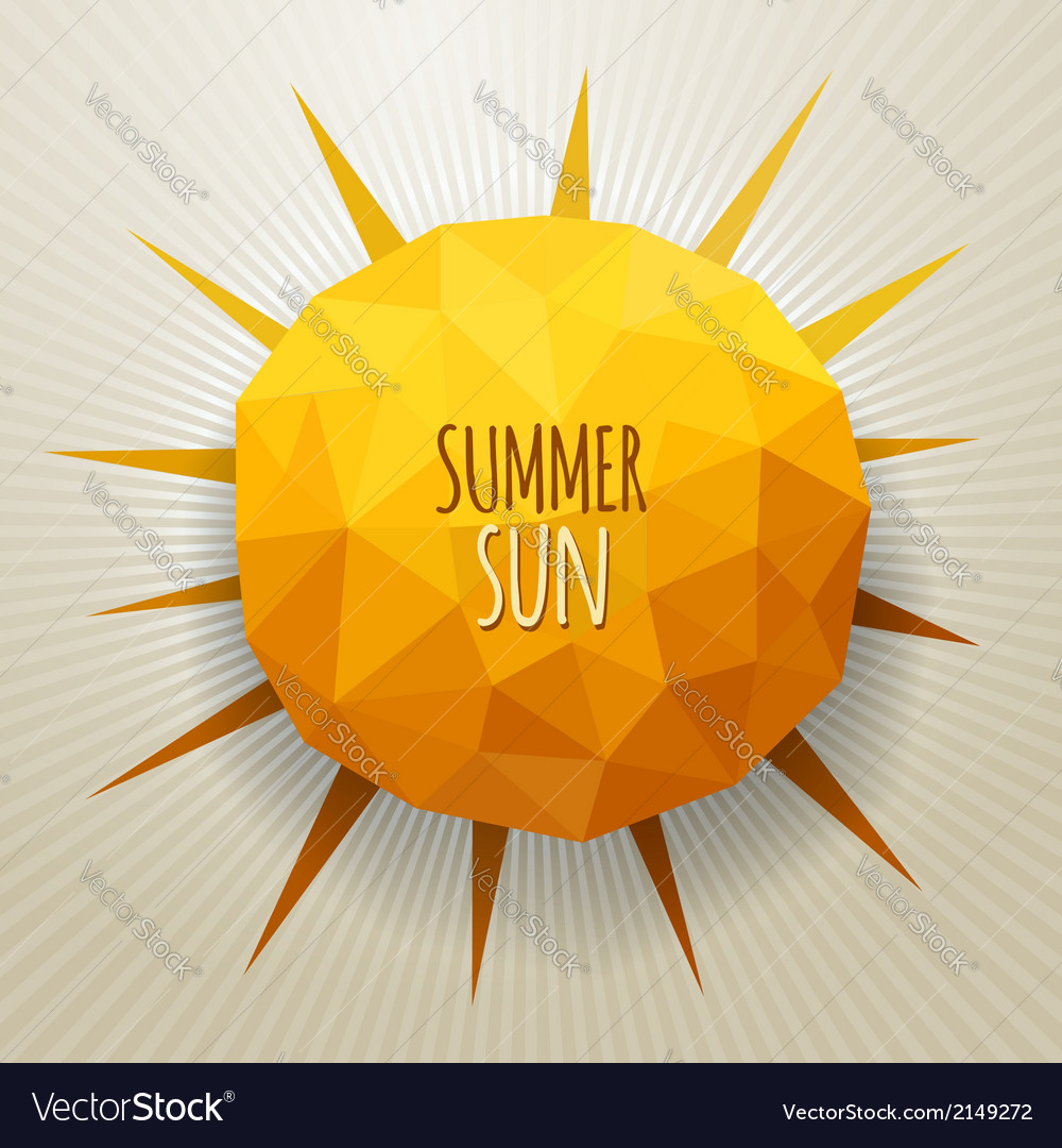 Triangle summer sun vector | Price: 1 Credit (USD $1)
