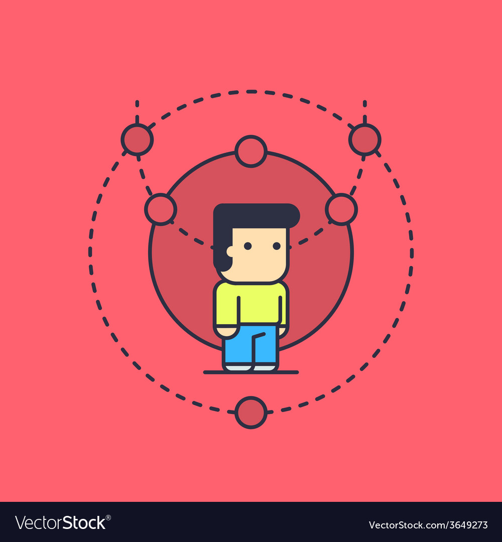 Balanced logical thinking vector | Price: 3 Credit (USD $3)