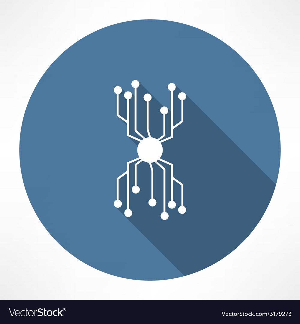 Chip icon vector | Price: 1 Credit (USD $1)