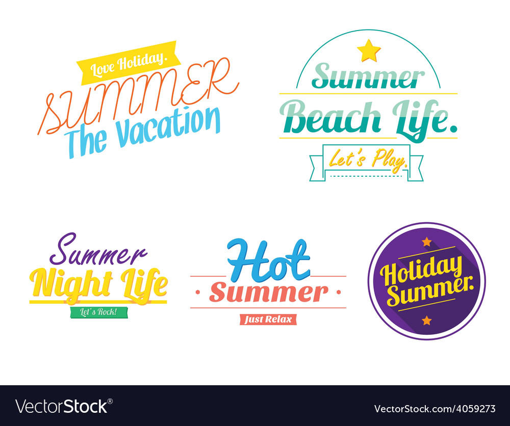Color summer hipster vintage logo icon vector | Price: 1 Credit (USD $1)