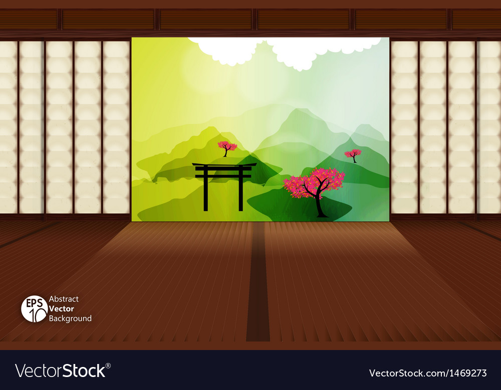 Japanese room vector | Price: 1 Credit (USD $1)