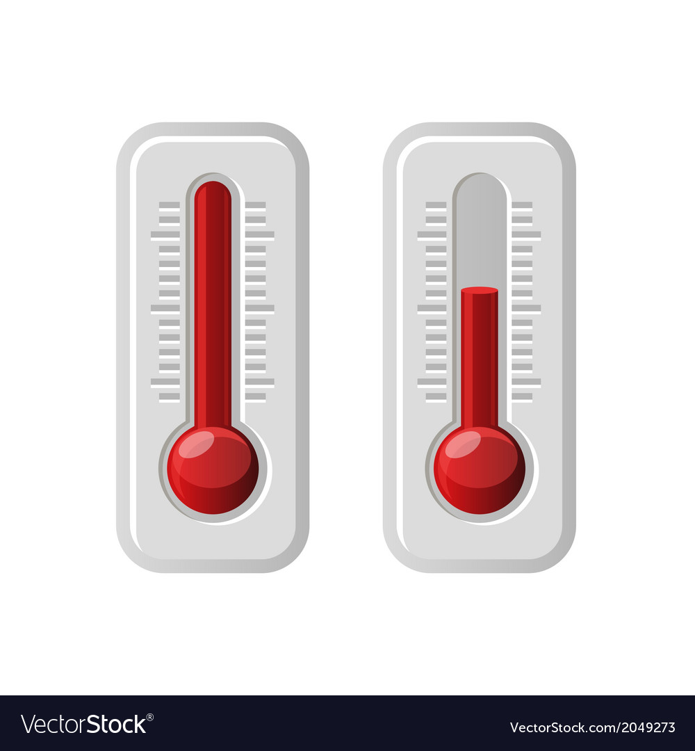 Thermometers icons with different levels vector | Price: 1 Credit (USD $1)